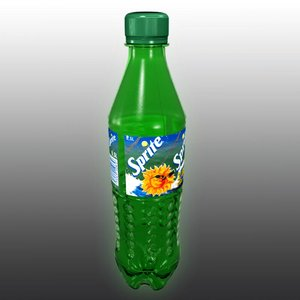 sprite plastic bottle 3d model