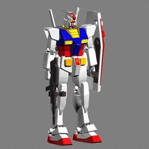 free c4d model rx-78-2 gundam