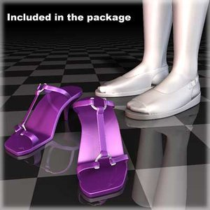 shoes female body 3d max