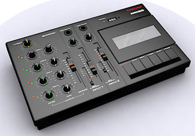3d tascam 4-track tape recorder model