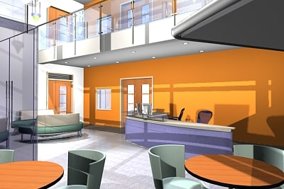 office reception 3d model