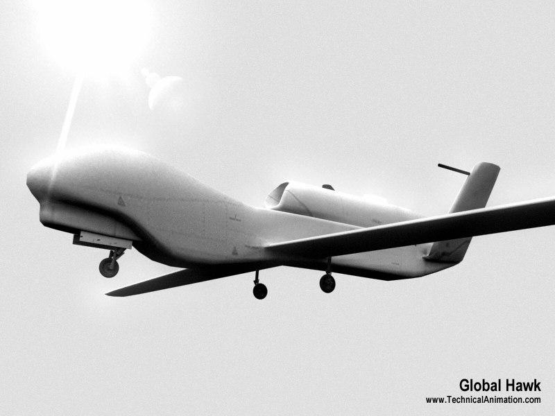 hawk uav 3d model