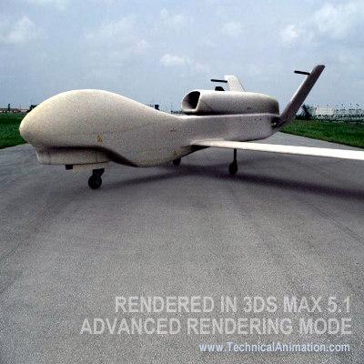 global hawk uav 3d model