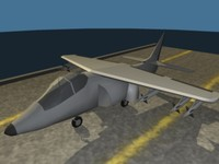 3d low-poly harrier model