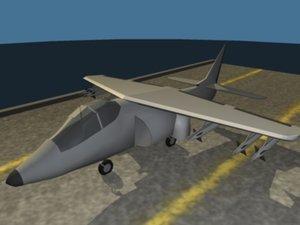 3d low-poly harrier model