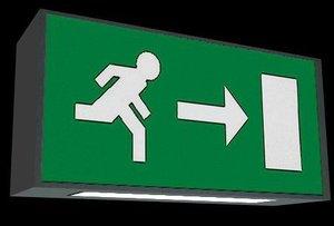 3d model european exit signs