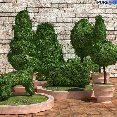 plants grass bush 3d model