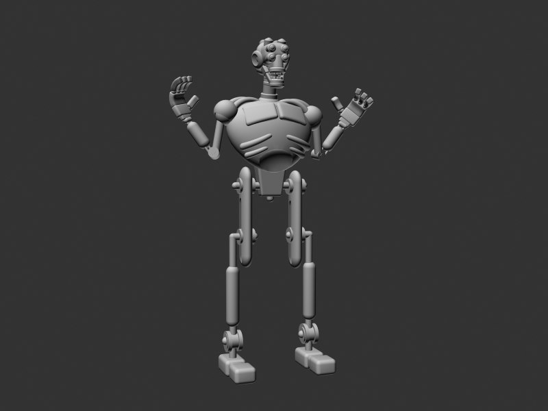 robot eyes 3d model