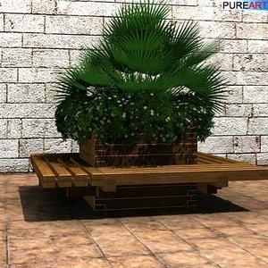 max plants planter bench