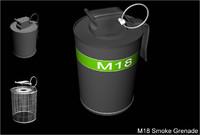 free m18 grenade 3d model