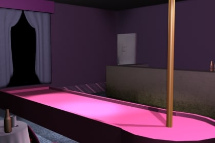 scene curtain complete 3d model
