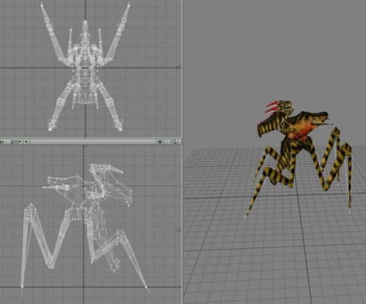 3d bug arachnoid model