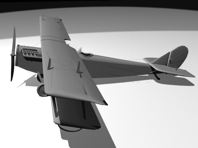 3d model of curtiss jenny