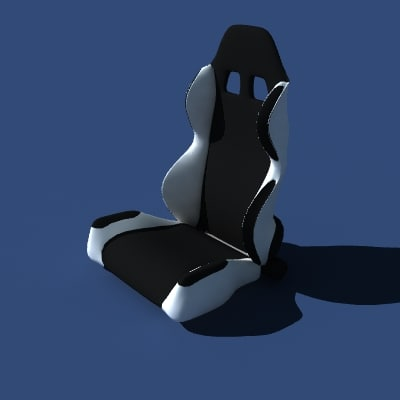 3d model sparco racing seat