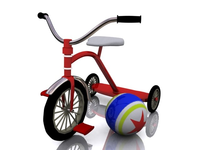 tricycle bike 3d max