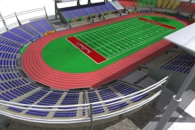football stadium 3d max