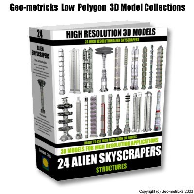 alien skyscrapers 3d model