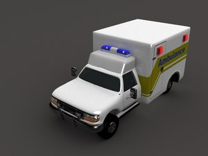 lightwave ambulance 3d lwo