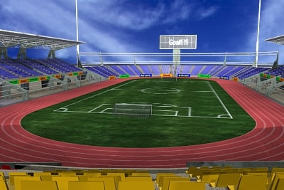 soccer football stadium 3d model