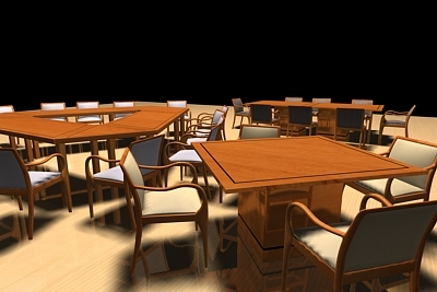 office furniture executive 3d model