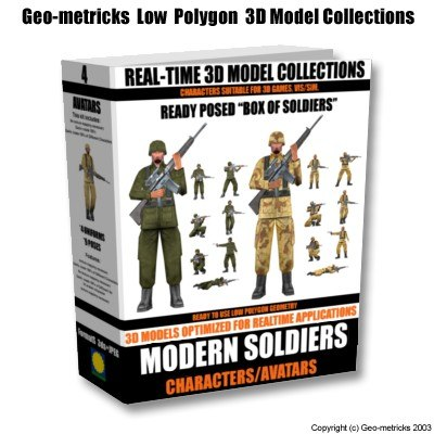 modern soldiers 3d model