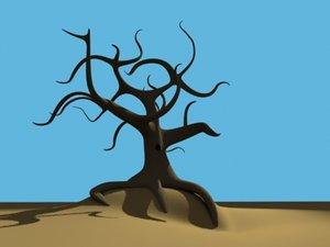 old spooky tree 3d model