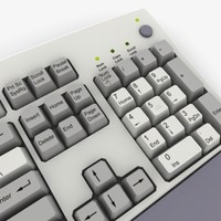 keyboard real keys 3d model