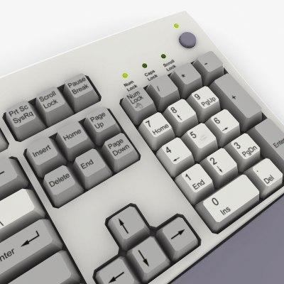 keyboard real keys 3d model