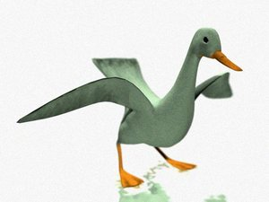 3d model birds goose