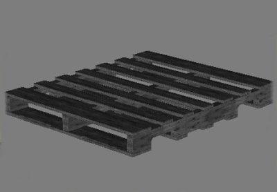 3d model old wooden pallet