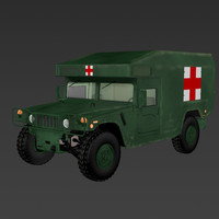 h1 military ambulance 3ds