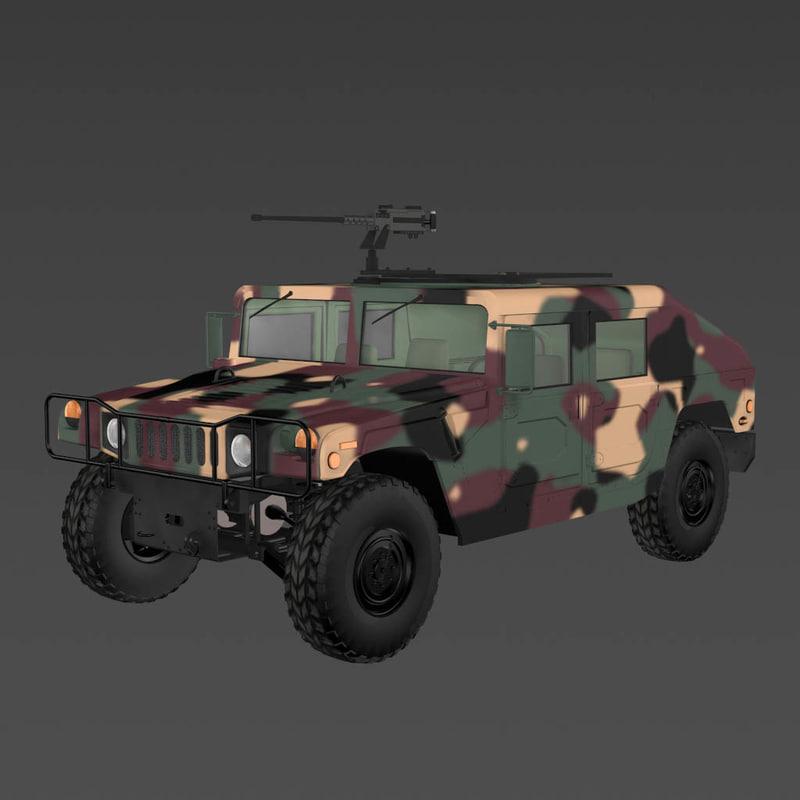 h1 military humvee 3d model