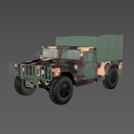 3d hummer humvee truck