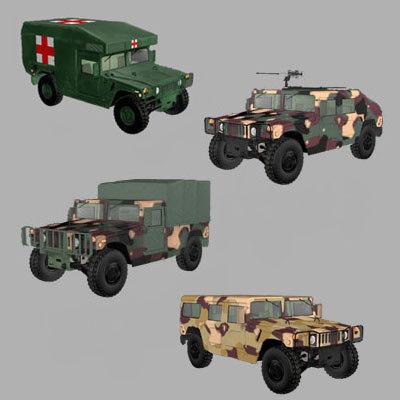 Military Humvee Hummer Truck 3d Model