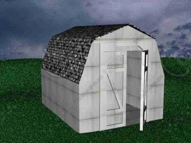 3ds max shed barn