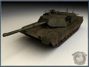 free lwo model m1a1 tank