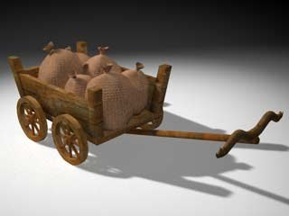 3ds max agricultural cart