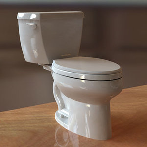 kohler wellworth toilet 3d model