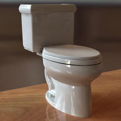 kohler memoirs toilet 3d obj