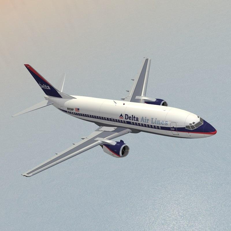 b 737-300 delta air lines 3d max