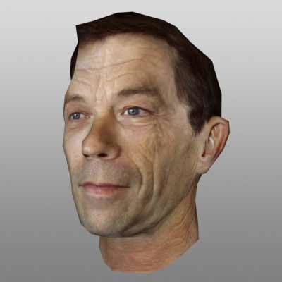 3d model realtime man head