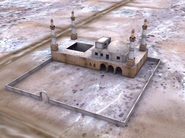 3d mosque temple
