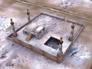 building mosque temple 3d model