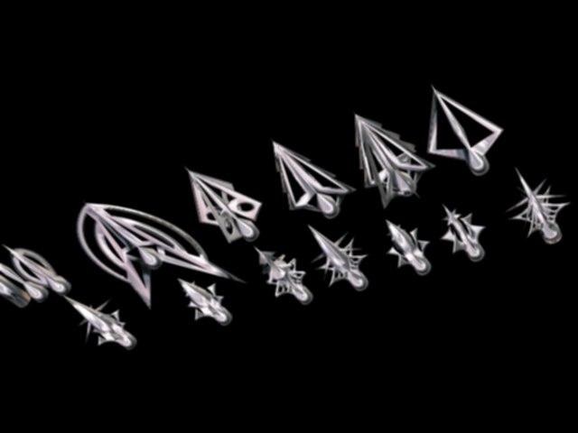 wicked arrow points bow 3d model