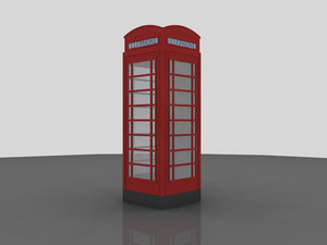 3d old telephonebox