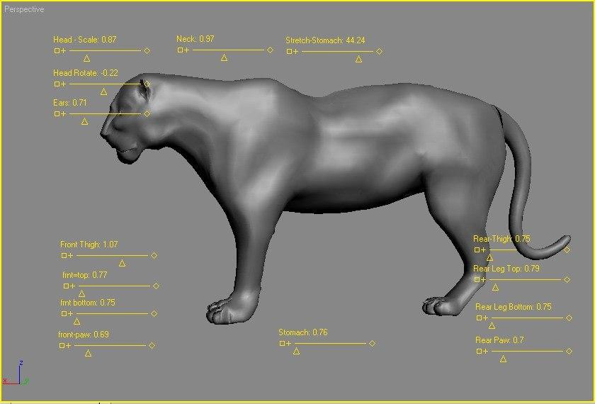 cat cat-family 3d model