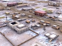 3rdworld arab town low-poly buildings 3d model