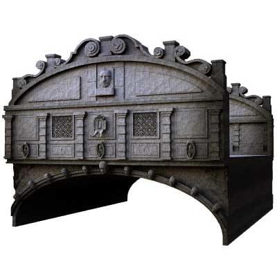 3d model venice bridge