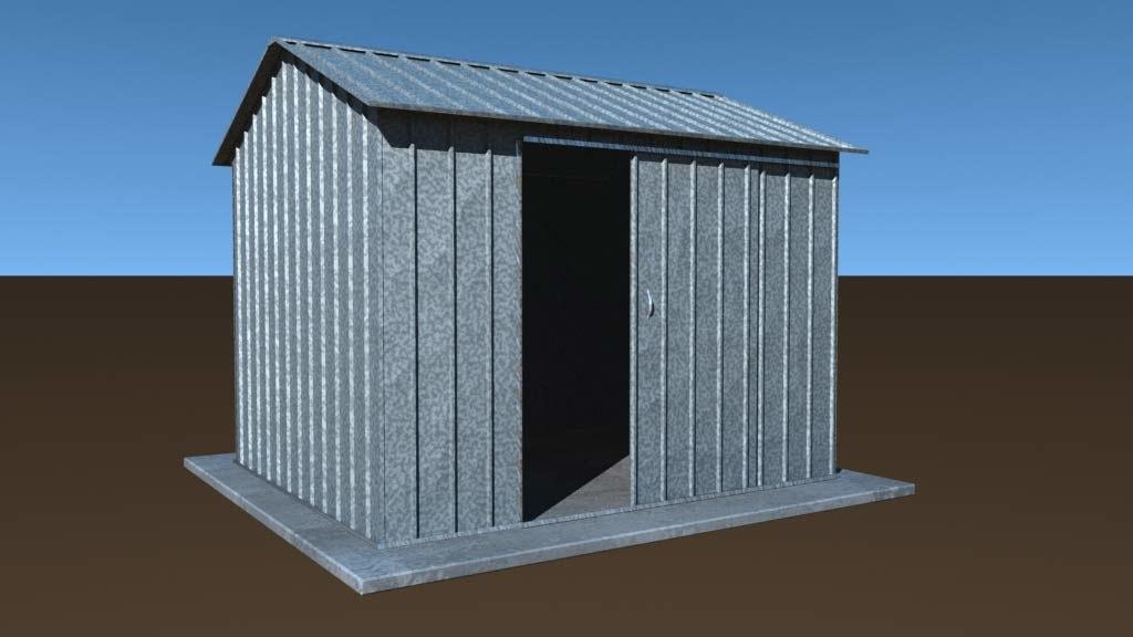 3d lwo garden shed