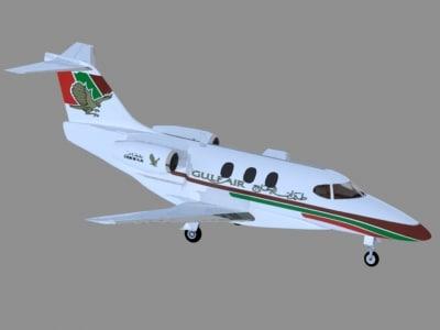 business jet gulf air 3d model